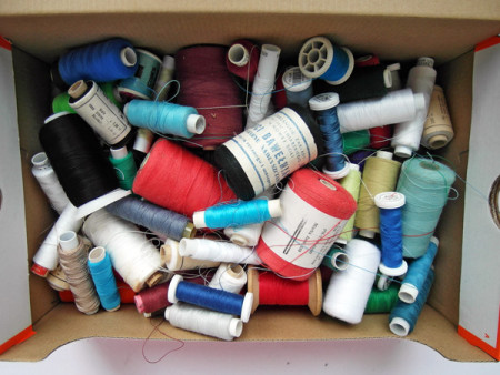 Handmade thread storage - according to color